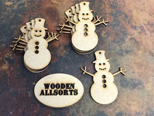 10x MDF Christmas Snowmen Shapes. Craft, Embellishment approx 96x83mm