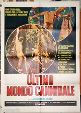manifesto 2F originale ULTIMO MONDO CANNIBALE Ruggero Deodato 1977