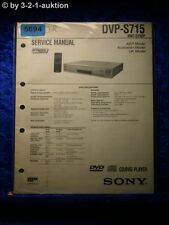 Sony Service Manual DVP S715 CD/DVD Player (#5694)