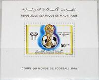 MAURITANIA MAURETANIEN 1978 Block 21 S/S 392 Soccer World Cup Argentina MNH