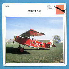 SCHEDA TECNICA AEREI - FOKKER D VII - (GERMANIA)
