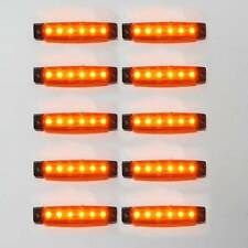 10x 12v Led Yellow Side Marker Light Lamp For Transporter Truck Trailer Lorry