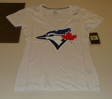 2013 Toronto Blue Jays White Baseball L Ladies V Deep Neck Women's T Shirt