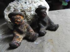 2 Primitive Antique or Vintage Cast Iron Little Boys Sitting Toys Sailor Suits ?