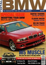 Total BMW Magazine April 2002 ... HARTGE 270 bhp M3 WAGON ... DINAN M5 470 bhp