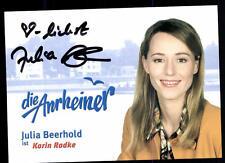 Julia Beerhold la anrheiner autografiada mapa original firmado # bc 52664