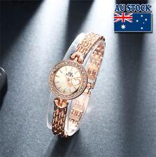 New Charming  Heart- Designed Crystal Rhinestone Women's Gold Wrist Watch
