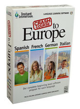 Learn 4 Languages Fast & Easy - PC Software for Spanish French German Italian