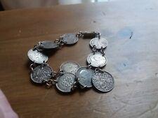 Vintage George VI & George V Silver Three Pence Coin Bracelet