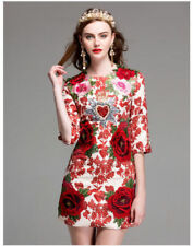 dd05eed5422f Red Dresses for Women with Embroidered | eBay