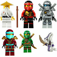 Ninjago CUSTOM Lego Minifigures Zane Lloyd Kai Cole Pythor Marvel FAST POST