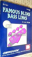 MEL BAY'S FAMOUS BLUES BASS LINES QUIKGUIDE INCLUDING CD (2000)
