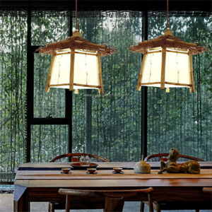 Bamboo Rattan Chandelier Light Color Wall Lamp Shade Body Material Service Life