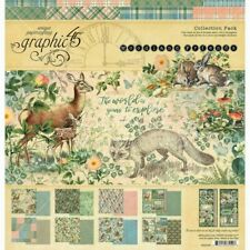 """Graphic 45 12"""" X 12"""" Paper Collection Kit Woodland Friends New"""