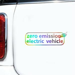 1x Zero Emissions Electric Vehicle Sticker Car Window Door Motocycle Truck Decal