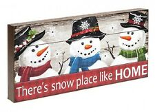 There's Snow Place Like Home Light Up Festive Christmas Wall Decoration Plaque