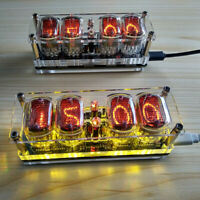 Clock with nixie tubes in-12a in-12b *USA warehouse LED backlight Tubes included