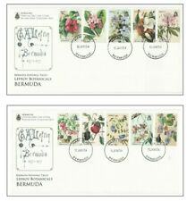 Bermuda Flowers: 'CHARLOTTE LEFROY PAINTINGS' complete set on 2 FDCs