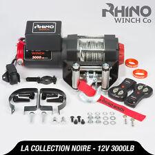 Treuil électriques 12v noir Récupération 4x4 Bateau 3000lb / 1360kg Winch RHINO