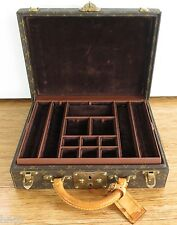 .PRE OWNED LOUIS VUITTON MONOGRAM VELVET LINED JEWELLERY JEWELRY CASE