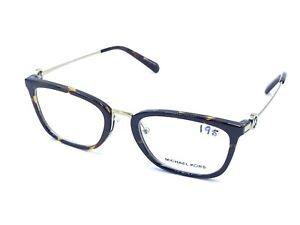 Michael Kors 3336 MK 4054 Captiva Dark Tortoise Eyeglasses Frames 52-20 140 NEW