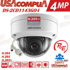 Hikvision 4MP POE IP Network Camera DS-2CD1143G0-I  2.8MM  Dome H265+