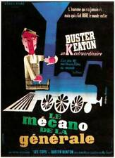 Old Movie Photo The General Poster Buster Keaton Featured On French 1927