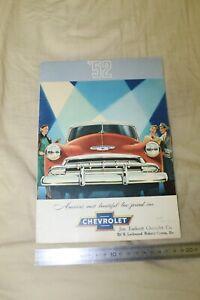 (MN1/Fbis) Brochure Catalogue 1952 CHEVROLET '52