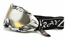 RAYZOR SKI Snowboard Goggles Mask 100% UV400 ANTI FOG Clear Yellow Lens RRP£69