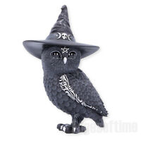 OWLOCEN WITCHES HAT OCCULT OWL FIGURINE ORNAMENT MAGIC SPELL PAGAN GOTHIC 13.5CM