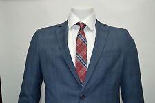 Men's Blue Glen Plaid 2 Button Slim Fit Suit SIZE 40R NEW