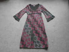 FAT FACE UK 8 ,floral tie belt Bust 3/4 BELL sleeves STRETCH cotton PENCIL DRESS