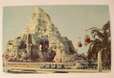 Vintage DISNEYLAND Postcard Matterhorn Skyway Tomorrowland 1960s Unused