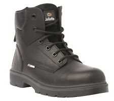 MENS SIZE 9 JALLATTE JALGERAINT BLACK LACE UP SAFETY CAP WORK BOOTS JMJ06