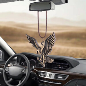 Car Pendant Bronze Eagle Hanging Rear View Mirror Bird Decoration Accessories