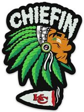 """Kansas City Chiefs """"Chiefin"""" with Head Dress Type Die-cut Magnet"""