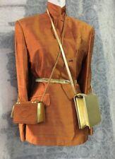 Jean Paul GAULTIER beautiful Silk Jacket orange pure silk medium 80s Femme