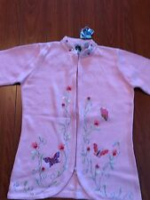 NWT STORYBOOK KNITS Sweater, Size XS, color Pink with Flowers, Butterflies