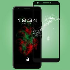 1x Glass Foil Fullscreen Clear Google Pixel 3a XL - in Black Safety 9H