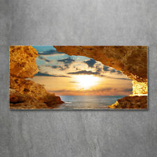 Glas-Bild Wandbilder Druck auf Glas 120x60 Deko Landschaften Grotte am Meer