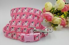 Jessiebee's unicorn collar and lead small dog bespoke handmade