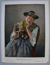 Originaldrucke (1800-1899) aus Europa mit Mode- & Trachten-Motiv