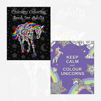 Unicorns Collection 2 Books Set NEW (Keep Calm and Colour,Unicorn coloring book)