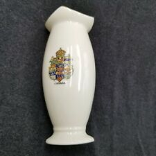 Carlton China Vase Canada Crest Logo Travel Vacation Souvenir Gift White