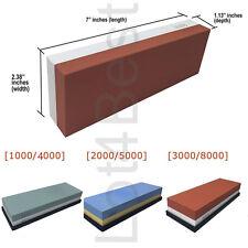 Knife Sharpener Stone Grit Whetstone Silicon Base 1000/4000 2000/5000 3000/8000