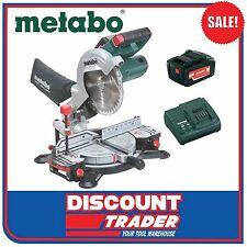 Metabo 18V Lithium-Ion Mitre Saw Kit Battery Charger KS 216 LTX SK 6.19000.85SET