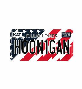 Offiziell Hoonigan Ken Block Stars Und Streifen Kennzeichen