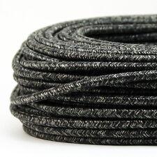 Textilkabel,Stoffkabel Rund Standardfarben Dunkel Blau 3-Adrig 0,75,H03VV-F