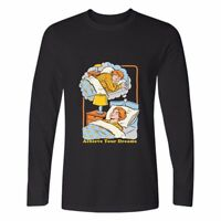 Achieve Dreams Printed Cotton Long Sleeve Men's Casual Crew Neck t-shirts Tops