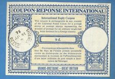 1956 GREAT BRITAIN INTERNATIONAL REPLY COUPON 9 d SYDENHAM 1085